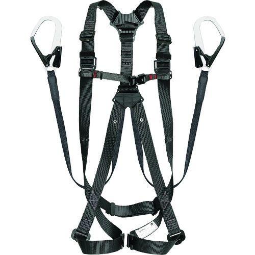 トラスコ中山 タジマ ハーネスGS 平ロープ ダブルL1セット 黒L tr-1697294