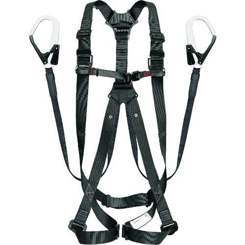 トラスコ中山 タジマ ハーネスGS 平ロープ ダブルL1セット 黒M tr-1697286