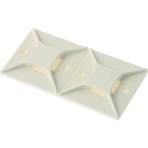 トラスコ中山 パンドウイット マウントベース ゴム系粘着テープ付き 白 (200個入) tr-8180159