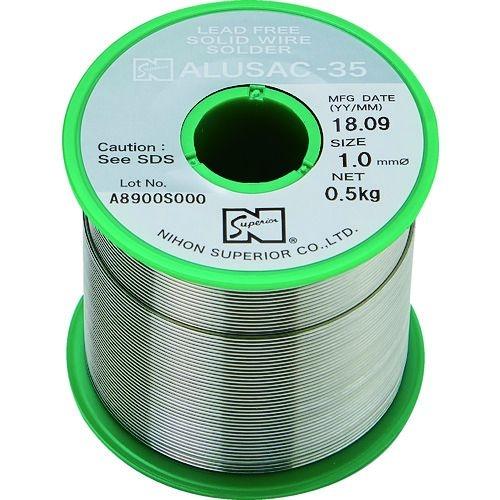 トラスコ中山 スペリア アルミ用鉛フリーはんだ ALUSAC-35 2.0mm tr-1455068
