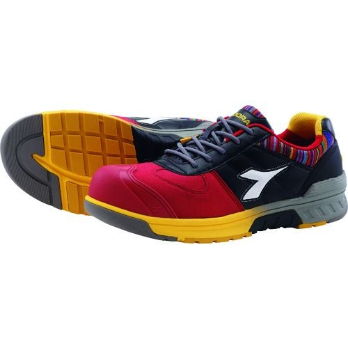 トラスコ中山 ディアドラ 安全作業靴 ブルージェイ レッド/ホワイト/ブラック 27.5cm tr-1347401