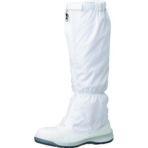 トラスコ中山 ミドリ安全 トウガード付 静電安全靴 GCR1200 フルCAP フード ホワイト 24.0cm tr-1493664