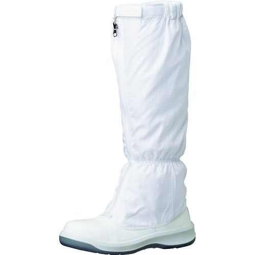 トラスコ中山 ミドリ安全 トウガード付 静電安全靴 GCR1200 フルCAP フード ホワイト 25.5cm tr-1493667