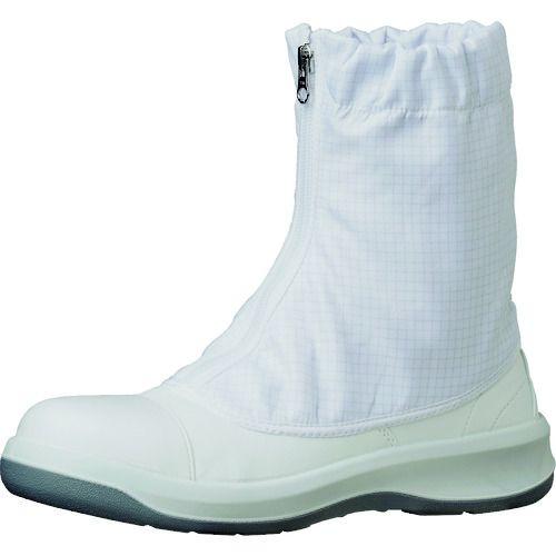 トラスコ中山 ミドリ安全 トウガード付 静電安全靴 GCR1200 フルCAP ハーフ ホワイト 25.5cm tr-1493654