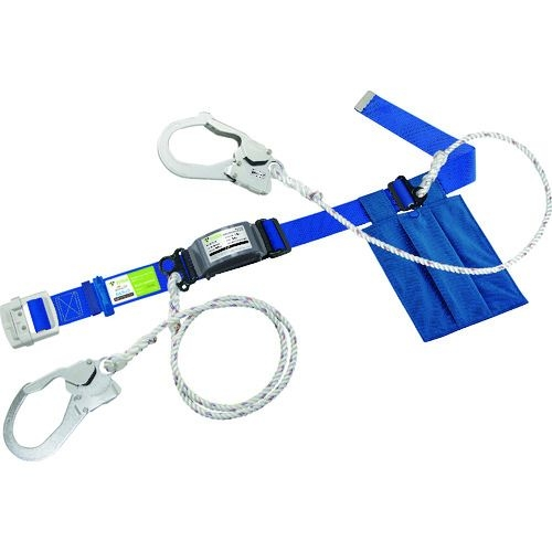 トラスコ中山 タイタン カルラック ロープ+補助ロープ式 スカイブルー (墜落制止用器具) tr-1613756