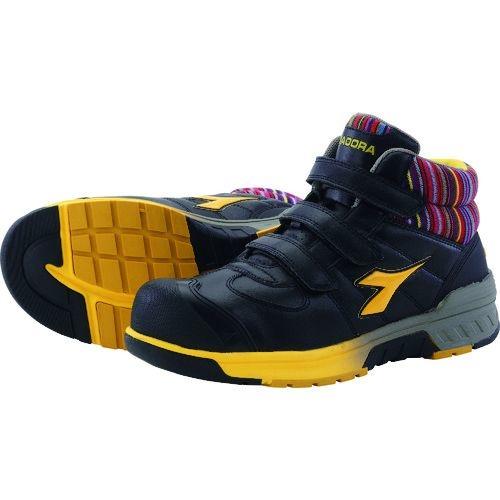 トラスコ中山 ディアドラ 安全作業靴 ステラジェイ 黒/黄 25.5cm tr-1388406