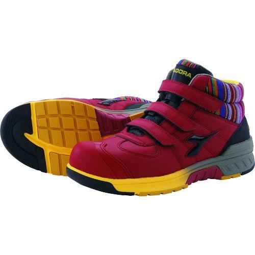トラスコ中山 ディアドラ 安全作業靴 ステラジェイ 赤/黒 24.5cm tr-1494750