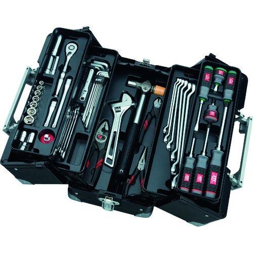 トラスコ中山 KTC 9.5sq.両開きメタルケース採用 工具セット tr-1373606