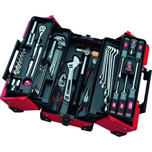 トラスコ中山 KTC 9.5sq.両開きメタルケース採用 工具セット tr-1373623