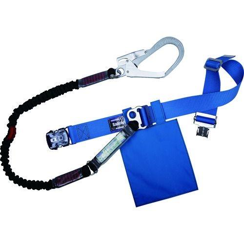 トラスコ中山 ツヨロン 胴ベルト型安全帯 ノビロン 青 Mサイズ tr-1635105