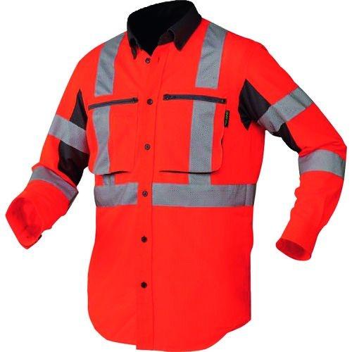 トラスコ中山 BT スーパークールサマーシャツ オレンジ Lサイズ tr-1609309