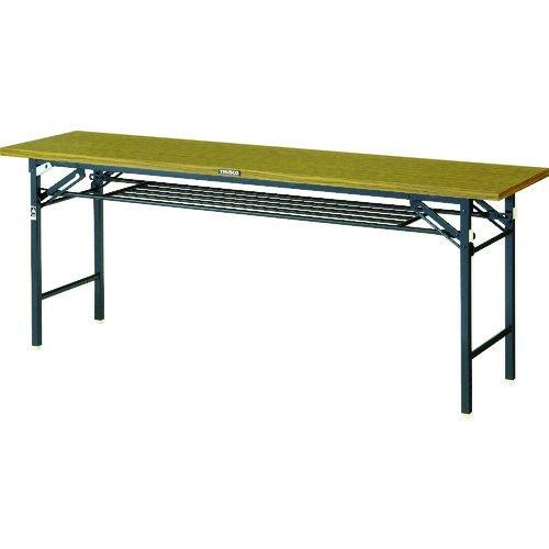 トラスコ中山 TRUSCO 折りたたみ会議テーブル ワイドクランク 1800X450 ストッパー付 tr-1496256