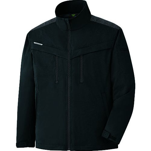 トラスコ中山 ミドリ安全 VERDEXCEL ストレッチ防寒ジャンパー VE2009 上 ブラック L tr-1493580