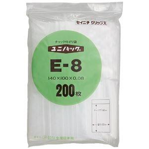 その他 (まとめ)生産日本社 ユニパックチャックポリ袋140*100 200枚E-8(×10セット) ds-2276644