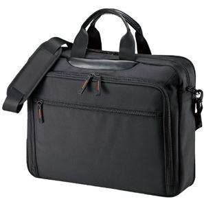 その他 (まとめ)サンワサプライ ビジネスバッグ BAG-W2BKN ブラック(×3セット) ds-2278581
