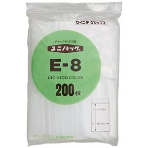 その他 (まとめ)生産日本社 ユニパックチャックポリ袋140*100 200枚E-8(×30セット) ds-2278723