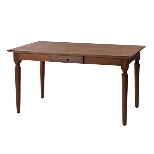 ラタンワールド チーク無垢材 ダイニングテーブル エクステンションボード付属 (KA(アンティークチーク)) ACT450KA