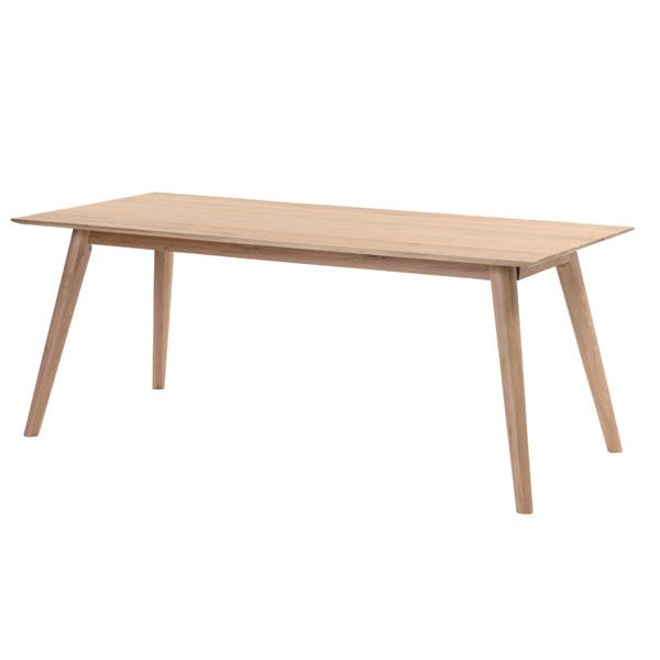 ラタンワールド 天然オーク無垢材 ダイニングテーブル 180cm幅 (NA ナチュラル (ホワイトオーク) ) L2T380NA