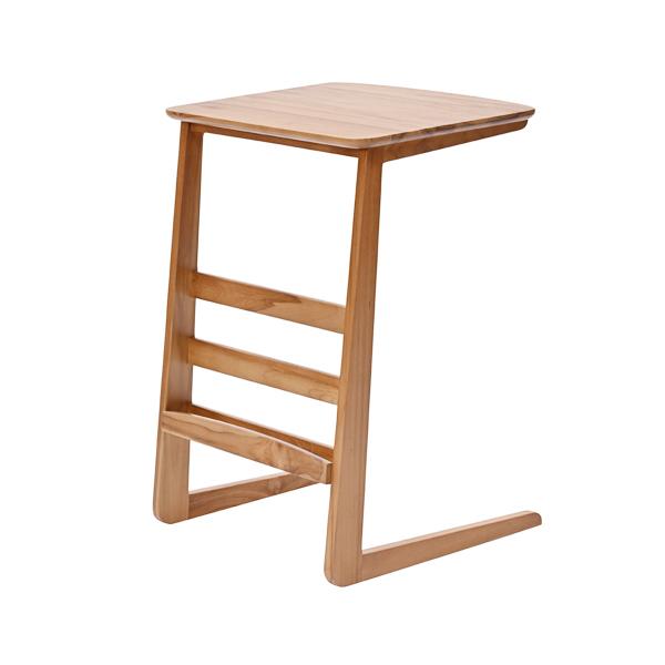 ラタンワールド チーク無垢材 サイドテーブル (RK) T250RK