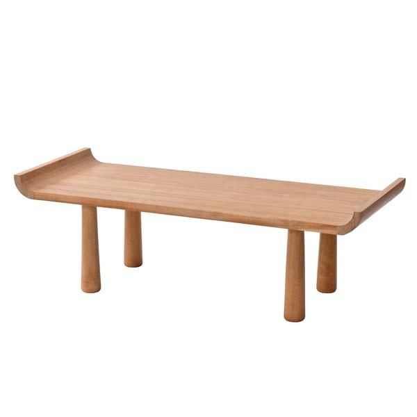 ラタンワールド チーク無垢材 センターテーブル 高さ2サイズ可変式 (XP) T480XP