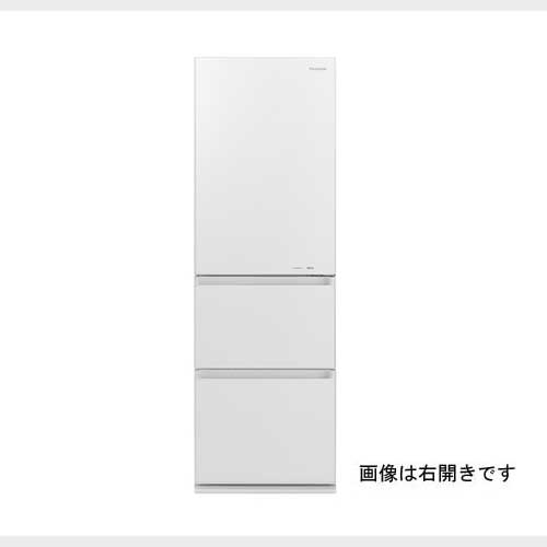 パナソニック 365L 3ドア左開きタイプ冷蔵庫 スノーホワイト NR-C371GNL-W