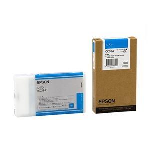 その他 (まとめ) エプソン EPSON PX-P/K3インクカートリッジ シアン 110ml ICC38A 1個 【×6セット】 ds-1571858