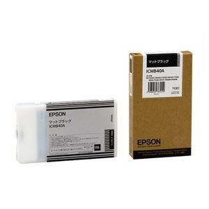 その他 (まとめ) エプソン EPSON PX-Pインクカートリッジ マットブラック 110ml ICMB40A 1個 【×10セット】 ds-2230253