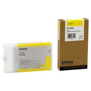 その他 (まとめ) エプソン EPSON PX-Pインクカートリッジ イエロー 110ml ICY40A 1個 【×10セット】 ds-2230254
