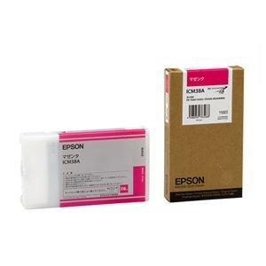 その他 (まとめ) エプソン EPSON PX-P/K3インクカートリッジ マゼンタ 110ml ICM38A 1個 【×10セット】 ds-2230262
