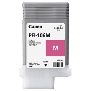 その他 (まとめ) キヤノン Canon インクタンク PFI-106 顔料マゼンタ 130ml 6623B001 1個 【×10セット】 ds-2230545
