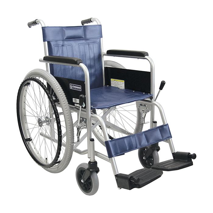 カワムラサイクル 車いす(スチール製)自走用 KR801Nソフト 背固定・ソフト 01-3865-04【納期目安:1週間】