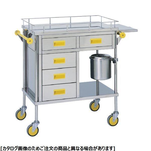 松吉医科器械 カラー多機能繃帯交換車 MY-1124P ピンク 20-4072-01【納期目安:1週間】