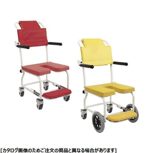 カワムラサイクル シャワー車いす KSC-2 イエロー 24-2173-0001【納期目安:1週間】