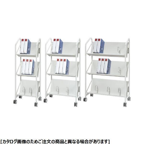 クラウン ファイルサポートワゴン(3段) CR-FSW340-W 24-5608-00【納期目安:1週間】