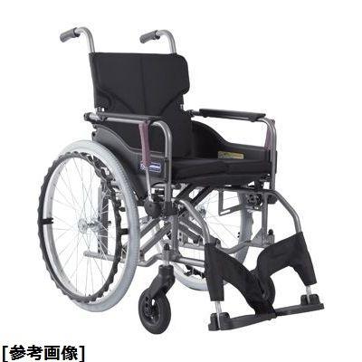 カワムラサイクル 車いす(アルミ製)自走用 KMD-A22-42-M 背折れ 紫チェック 24-7619-0506【納期目安:1週間】