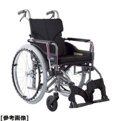 カワムラサイクル 車いす(アルミ製)介助用 KMD-A16-42-M 紫チェック 24-7620-0106【納期目安:1週間】