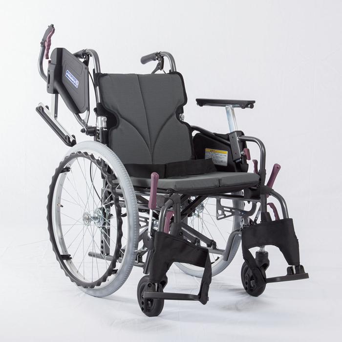 カワムラサイクル 低床車いす(アルミ製)自走用 KMD-C20-38-LO チャコールグレー 24-7621-0001【納期目安:1週間】