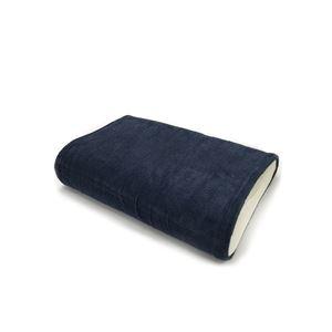 その他 消臭機能付き 枕カバー 【ワイドサイズ 同色2枚セット ネイビー】 枕サイズ50×70cm 綿混 日本製 『エアーかおる』 【代引不可】 ds-2279757