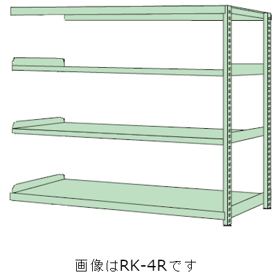 サカエ RKラック(単体・均等耐荷重:250kg/段・4段タイプ) RKN-8784R