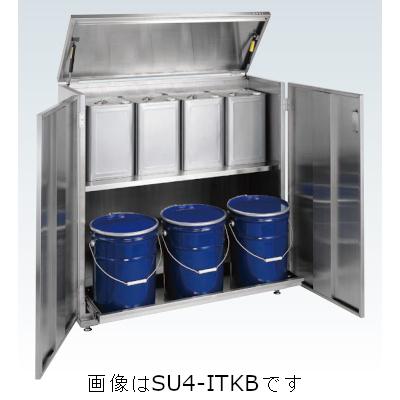 サカエ 一斗缶保管庫(SUS430タイプ・固定式) SU4-ITKB