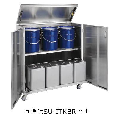 サカエ 一斗缶保管庫(SUS430タイプ・移動式) SU4-ITKBR
