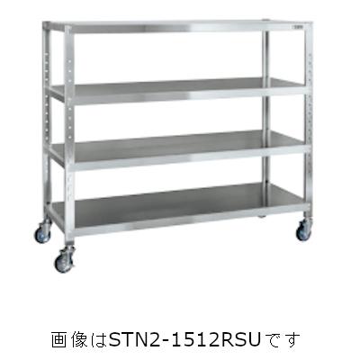 サカエ ステンレスサカエキャスターラック(ゴムキャスター付・SUS430) STN1-1812RSU4