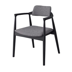 その他 ダイニングチェア/食卓椅子 【グレー】 幅57cm×奥行46cm×高さ75cm×座面高43cm 肘付き 木製素材 〔リビング〕 JPC-212GY ds-2286253