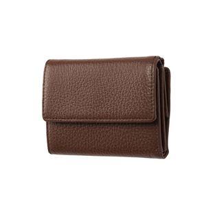 その他 FRUH(フリュー) イタリアンレザー 3つ折り財布 コンパクトウォレット GL032-BR ブラウン ds-2286488