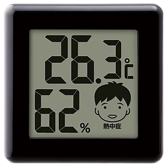 その他 【48個セット】デジタル温湿度計1個(ブラック) 2214880