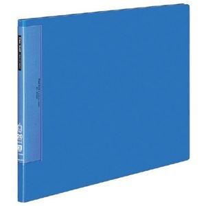 その他 コクヨ クリヤーブック(ウェーブカットポケット・固定式)A3ヨコ 20ポケット 背幅17mm 青 ラ-T548B 1セット(4冊) ds-2288220