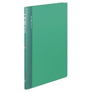 その他 コクヨ クリヤーブック(固定式・サイドスロー)A4タテ 20ポケット 背幅10mm 緑 ラ-810g 1セット(10冊) ds-2288229