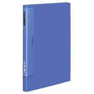 その他 コクヨ クリヤーブック(ウェーブカットポケット・固定式)B4タテ 40ポケット 背幅27mm 青 ラ-T574B 1セット(4冊) ds-2288243