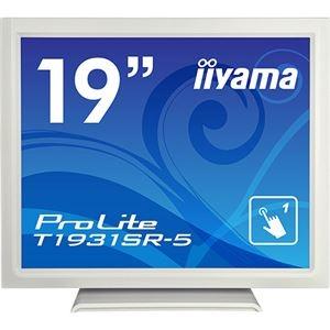 その他 iiyama ProLite19型スタンドタイプタッチパネル液晶(抵抗膜タッチ方式)ピュアホワイト T1931SR-W5 1台 ds-2288963