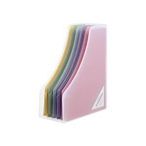 その他 (まとめ)ナカバヤシインデックスファイルボックスF5 A4フリー型 背幅112mm ペーパーファイル5冊付 クリア フボI-F5-C 1個【×10セット】 ds-2309290